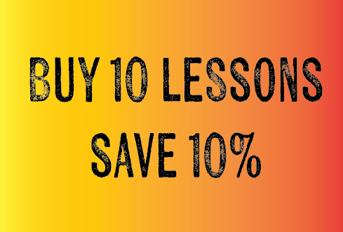 Buy 10 Lessons, Save 10%